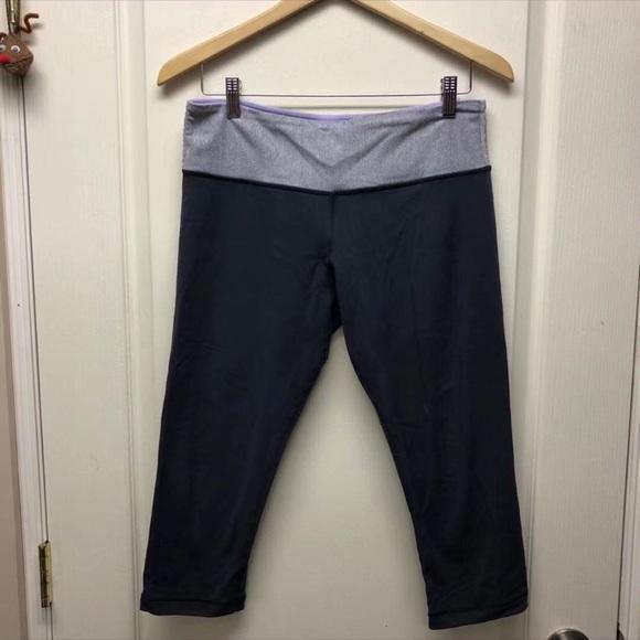 Lululemon dark gray cropped yoga pants